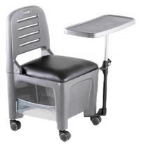 Cadeira Mesa Manicure Cirandinha Bari Cinza - Dompel -