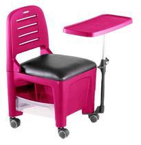 Cadeira Mesa Manicure Cirandinha Bari Rosa - Dompel -