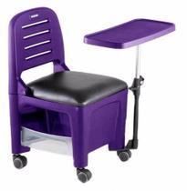 Cadeira Mesa Manicure Cirandinha Bari Roxa - Dompel -