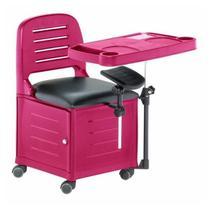 Cadeira Mesa Manicure Cirandinha Veneza Rosa - Dompel -