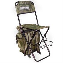 Cadeira Mochila Pesca Dobrável C/ Suporte De Vara Camuflado Marine Sports -