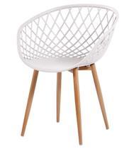 Cadeira Monaco Polipropileno cor Nude com Base Aco - 61200 - Sun House
