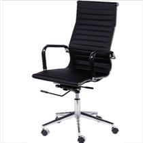 Cadeira Office Eames Esteirinha Alta Giratória preto - Or Design