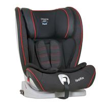 Cadeira p/Auto Strada Reclinável 4 Posições Black Red -5117GLC53(9 a 36Kg) - Cinto do Carro e Isofix - Burigotto