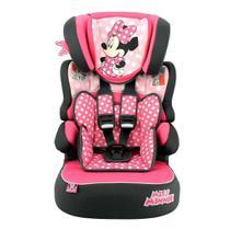 Cadeira P/ Auto Team Tex Luxe Minnie Mouse Dots Beline 9 A 36Kg Preto/Rosa -