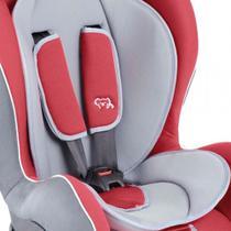 Cadeira para Auto Kiddo Comfy Reclinável  - 2 Posições para Crianças até 25kg Cor Cinza+Vermelho -
