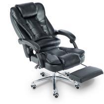 Cadeira para Escritório Giratória com apoio para os pés Big Boss - Preta - LMS-BE-8436-T3 - Preta - Lenharo
