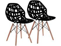 Cadeira para Sala de Jantar Pés Palito 2 Peças  - Garden Life Akron Wood