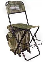Cadeira Pesca Dobrável Com Mochila E Porta Varas Até 125kg - Marine Sports