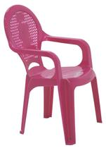 Cadeira plastica c/ bracos inf. estamp catty rosa tramontina - Tramontida