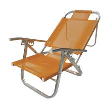 Cadeira  praia copacabana reclinável - laranja - botafogo -