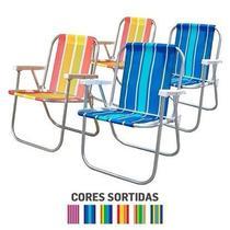 Cadeira Praia/Varanda Alta CAD0047 Botafogo Alumínio Cores Sortidas - Amalu