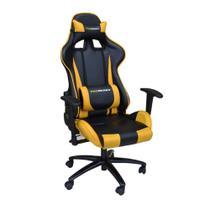 Cadeira Pro Gamer V2 Preta Com Amarelo - Rivatti