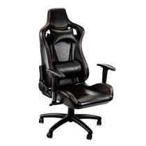 Cadeira Racer Giratória Gallant Altura Regulável Preta e Vermelha GCD100RPUA-PT -
