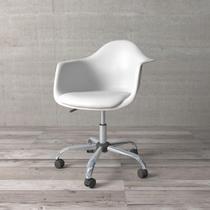 Cadeira Secretária com Braço Eames de Polipropileno Branca - Etna