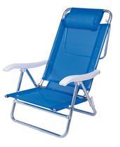 Cadeira sol de verao c/ almofada azul - Mor