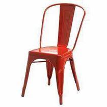 Cadeira Tolix Xavier Pauchard em Aço Vermelha - Decorafast