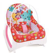 cadeirinha bebê descanso musical vibratória vermelha e rosa - color baby