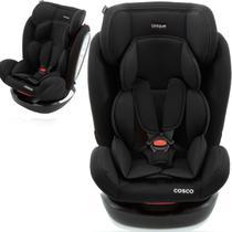 Cadeirinha de Bebê Conforto Auto 0 Até 36 Kg Reclinavel Grupo 0+, I, II E III Unique Cosco Preto -