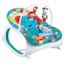 cadeirinha de bebê descanso musical vibratória safári azul - color baby