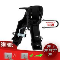 Cadeirinha Dianteira Baby Bike Kalf - Preto c/ Protetor de Tomada -