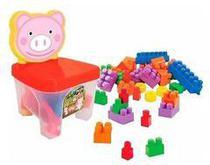 Cadeirinha Kidverte Pig Blocos - Big Star - Bigstar