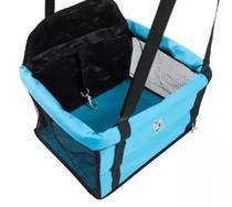 Cadeirinha Pet Cor Azul Assento Banco Carro Cadeira Cão Segurança - Pet util