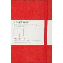 Caderneta Clássica Moleskine Notebook Capa Dura Sem Pauta 9x14  Cm Pocket - Vermelho -