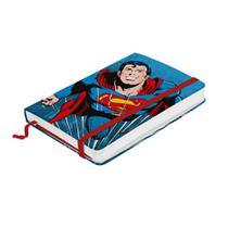 Caderneta de Anotação Papel Dc Superman Flying Fundo Azul 9,5X14cm 100 Folhas - Urban