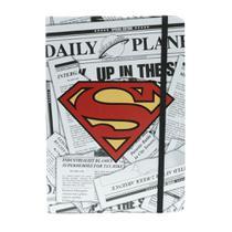 Caderneta de Anotações Superman com 100 Folhas e Elástico - Urban