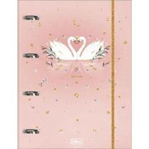 Caderno argolado cartonado universitário com elástico royal 80 folhas - Tilibra -