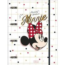 Caderno Argolado Universitário Cartonado Com Elástico Minnie 80 Folhas - Tilibra -