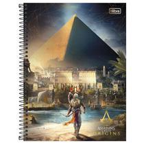 Caderno Assassins Creed Origins - Egito - 10 Matérias - Tilibra -