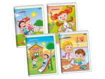 Caderno Brochura Flexível, 80 Folhas, Pacote C/ 10 Unidades, Jandaia - 40977 -
