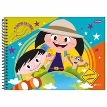 Caderno de Cartografia Show da Luna 96 Folhas Jandaia -