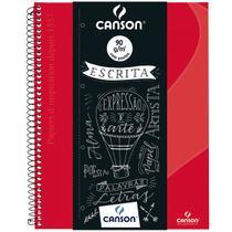 Caderno Desenho Canson Expressão e Arte Espiral CD 140 g  S/P A4 040 Fls Vermelho 71406819BR -