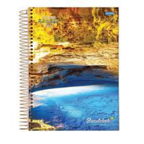 Caderno Espiral Capa Dura 10 Materias 160 folhas - Jandaia