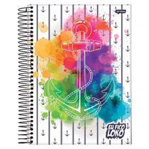 Caderno Eu Fico Loko - Âncora Aquarela - 1 Matéria - Jandaia -