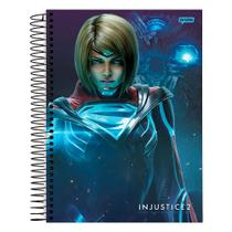 Caderno Injustice 2 - Supergirl - 10 Matérias - Jandaia -