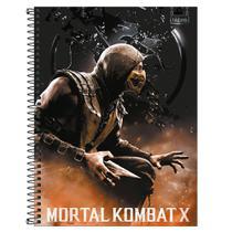 Caderno Mortal Kombat Espiral Universitário 16 Matérias 256 Folhas 293695-Tilibra -