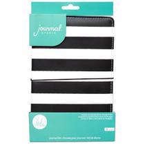 Caderno para Journaling WER340 Listrado Preto e Branco com 48 Páginas -