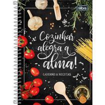 Caderno Receitas Culinarias 1/4 140mmx200mm Capa Dura Espiral 96 Folhas Tilibra -