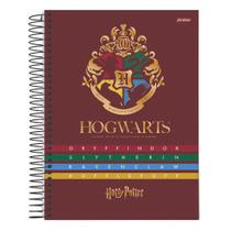 Caderno Univ 10mat 200fls Harry Potter Brasão M Jandaia -