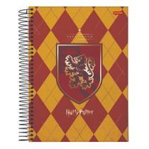 Caderno Univ 10mat 200fls Harry Potter Grifinória Jandaia -