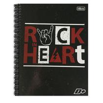 Caderno Univ 10Mat D+ Tilibra Rock Heart -