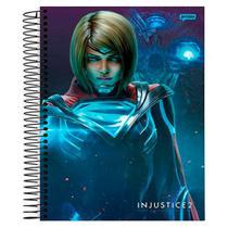 Caderno Univ 10mat Jandaia Injustice 2 Supergirl -