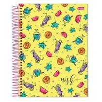 Caderno Univ 10mat Jandaia Wish Amarelo -