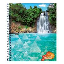 Caderno Univ 10mat Tilibra Verão Cachoeira -