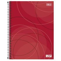 Caderno Univ 10mat Tilibra Zip Vermelho -