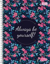 Caderno Universitário 10 Matérias Capa Dura D+ Always Be Yourself 2019 Tilibra